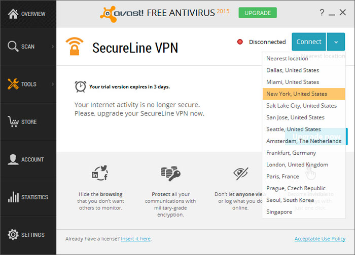 vpn avast secureline gratuit