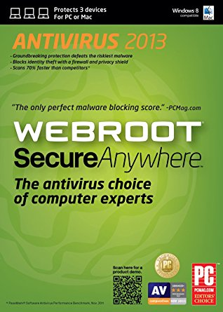 Webroot Secwhere AntivirureAnyus 2018 Review Software