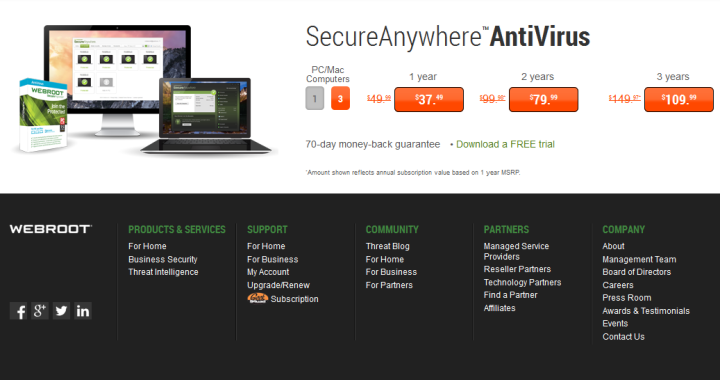 Webroot SecureAnywhere Internet Security Plus 2018 Review