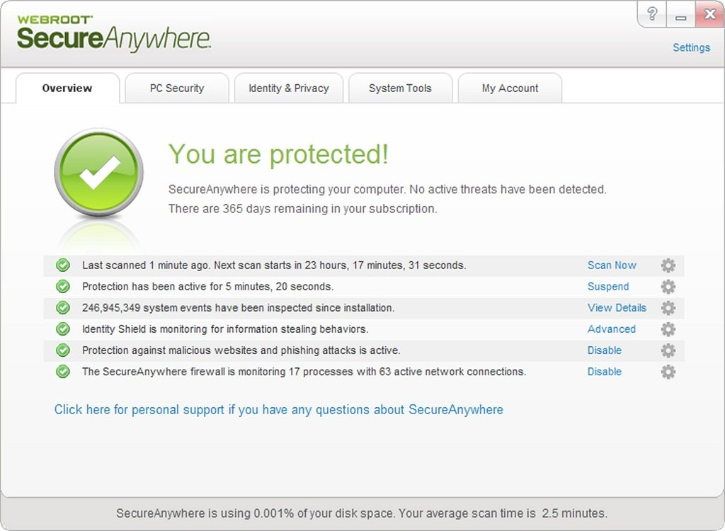 WEBROOT SECUREANYWHERE ANTIVIRUS Crack 2018 Download