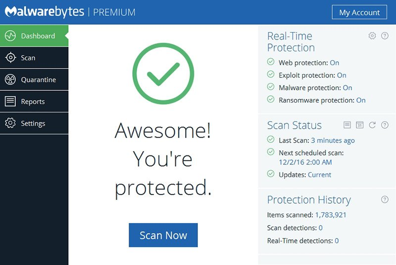 Malwarebytes Anti Malware 3.5.1 Crack Premium Key Is Free 2018